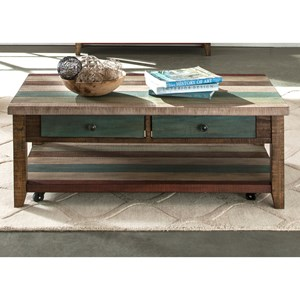 Liberty Furniture Boho Loft Rectangular Cocktail Table
