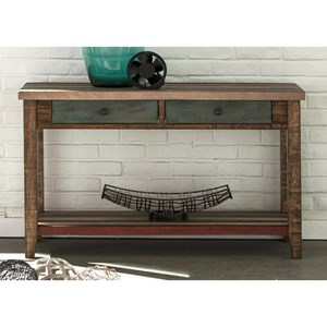 Liberty Furniture Boho Loft Two Drawer Sofa Table