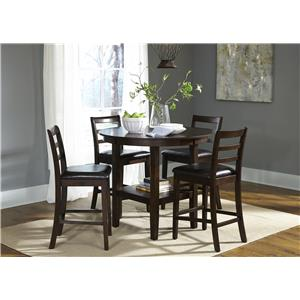 Liberty Furniture Bradshaw Casual Dining 5 Piece Pub Table Set