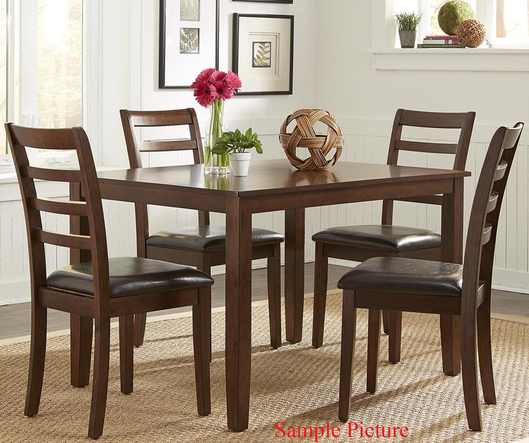 Bradshaw Casual Dining 5 Piece Rectangular Leg Table Set