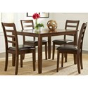 Liberty Furniture Bradshaw Casual Dining 5 Piece Rectangular Leg Table Set - Item Number: 32-CD-5RLS