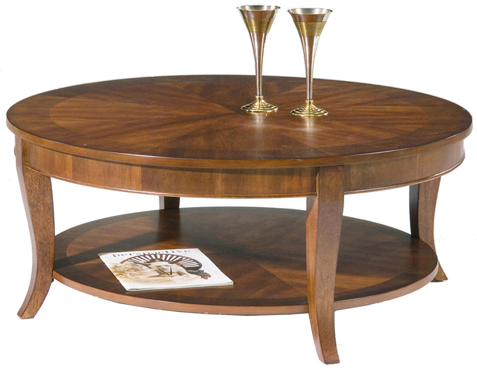 Liberty Furniture Bradshaw 748 Ot1010 Round Cocktail Table With Shelf Furniture And
