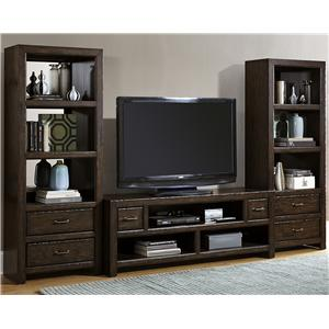 Liberty Furniture Brayden Entertainment Center with Piers