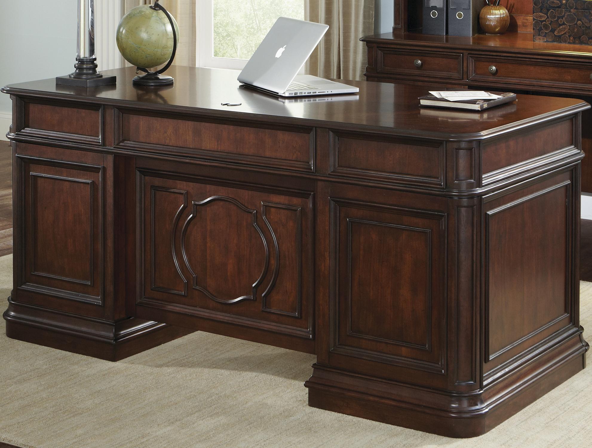 Liberty Furniture Brayton Manor Jr Executive Desk - Item Number: 273-HO105B+T