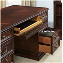 Liberty Furniture Brayton Manor Jr Executive Traditional Executive Desk with 5 Drawers