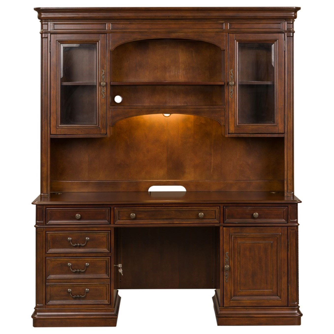 Credenza and Hutch
