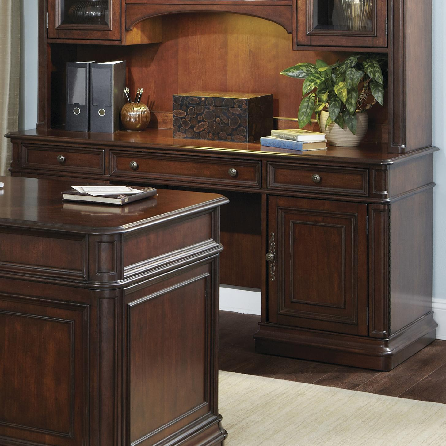 Liberty Furniture Brayton Manor Jr Executive Credenza  - Item Number: 273-HO120B+T