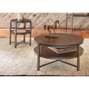 Liberty Furniture Breckinridge 3 Piece Round Occasional Table Set