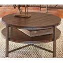 Liberty Furniture Breckinridge Round Cocktail Table with Shelf - Item Number: 348-OT1010