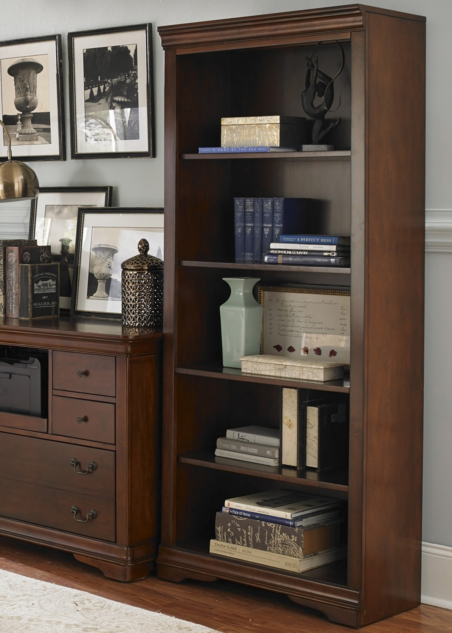 Liberty Furniture Brookview Open Bookcase                                - Item Number: 378-HO201