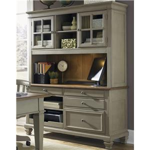 Liberty Furniture Bungalow Jr Executive Credenza and Hutch