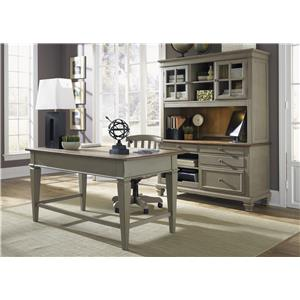 Liberty Furniture Bungalow 3 Piece Desk & Hutch Set