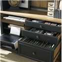 Liberty Furniture Bungalow II Jr. Executive Credenza w/ Printer Tray  - Shown with Drawers Pulled Out