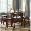 Liberty Furniture Cabin Fever Center Island Table with 4 Stools - Item Number: 121-IT3660B+IT3660T+4xB0000024
