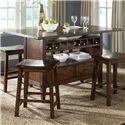 Liberty Furniture Cabin Fever Center Island Pub Table - Item Number: 121-IT3660B+IT3660T