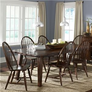 Liberty Furniture Cabin Fever 7-Piece Rectangular Leg Table with 6 Chairs