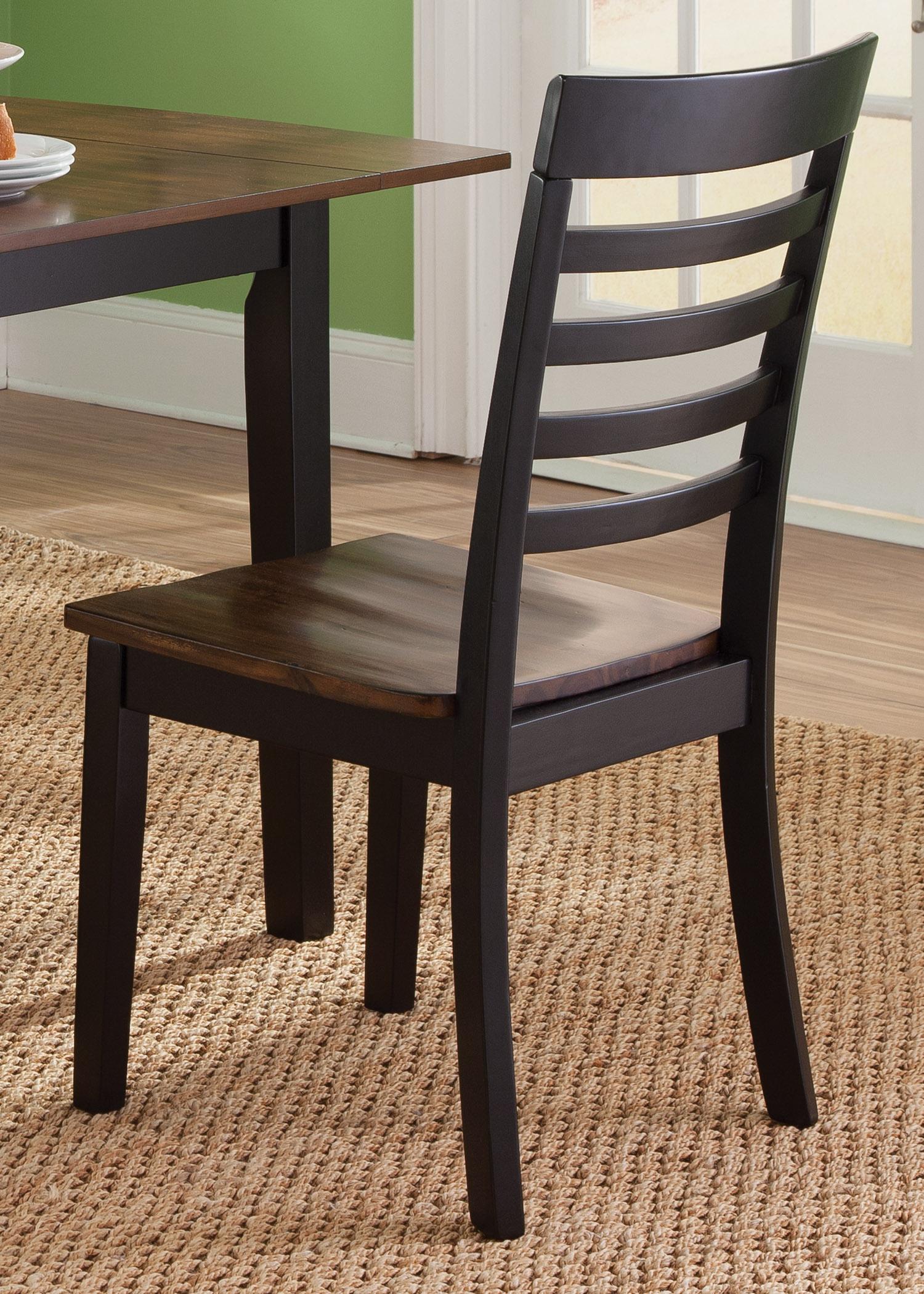 Vendor 5349 Cafe Dining RTA Slat Back Side Chair - Item Number: 56-C160-RTA