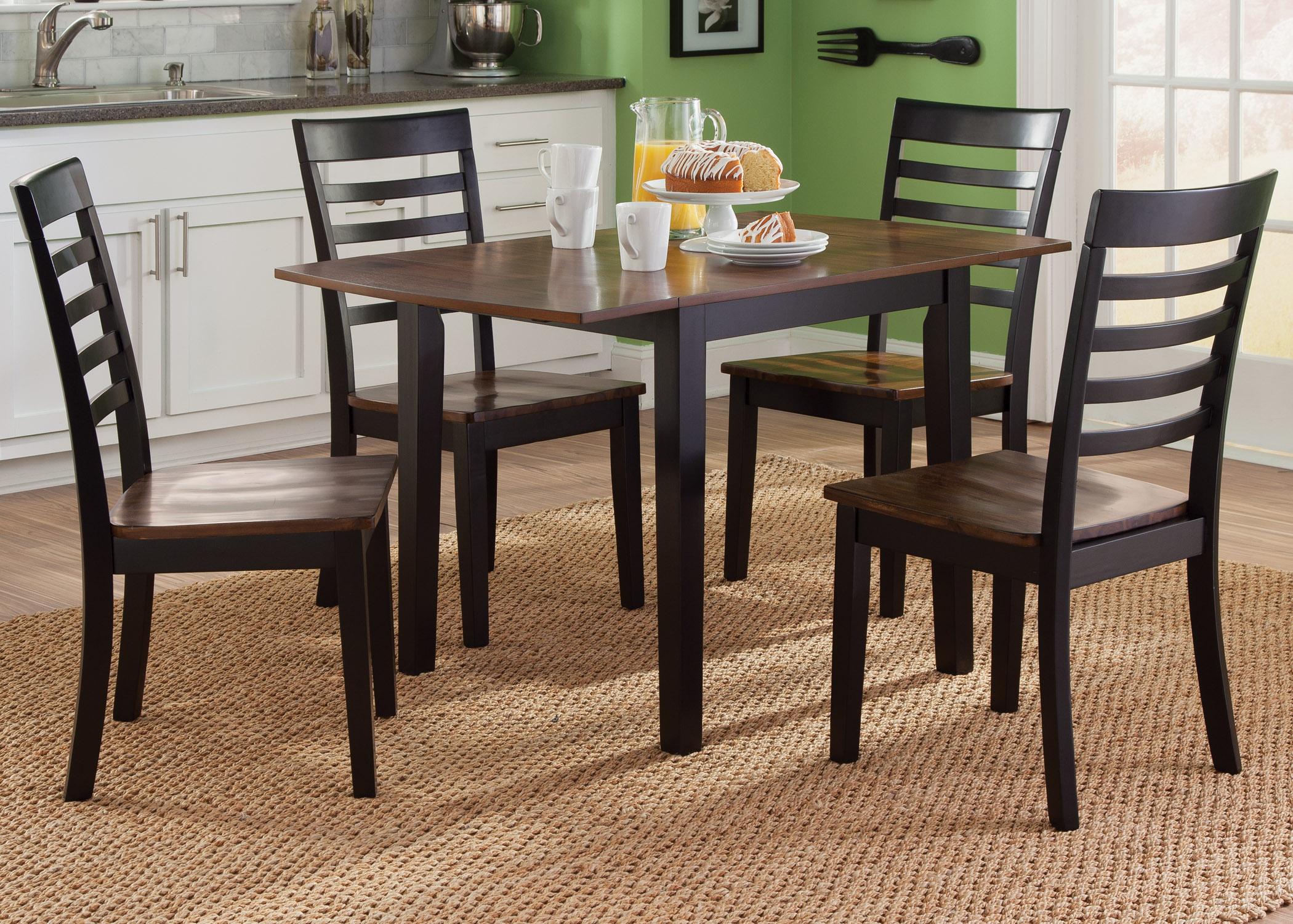 Liberty Furniture Cafe Dining 5 Piece Drop Leaf Set - Item Number: 56-CD-5DLS