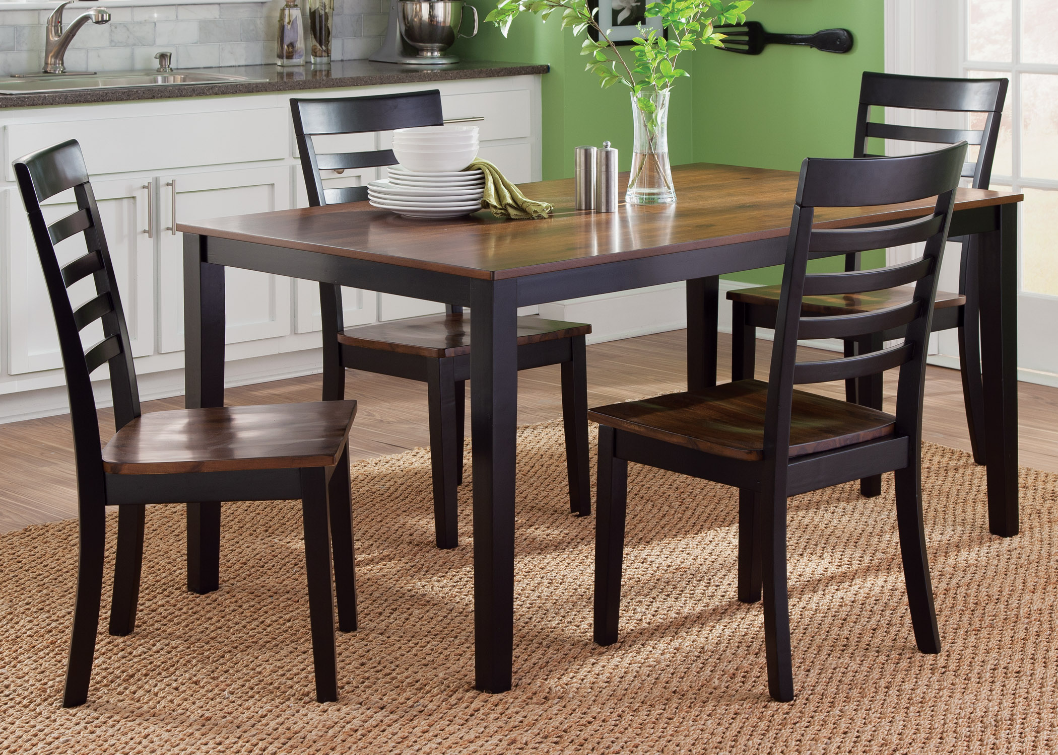 Liberty Furniture Cafe Dining 5 Piece Rectangular Table Set - Item Number: 56-CD-5RLS