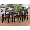 Liberty Furniture Cafe Dining 7 Piece Rectangular Table Set  - Item Number: 56-CD-7RLS
