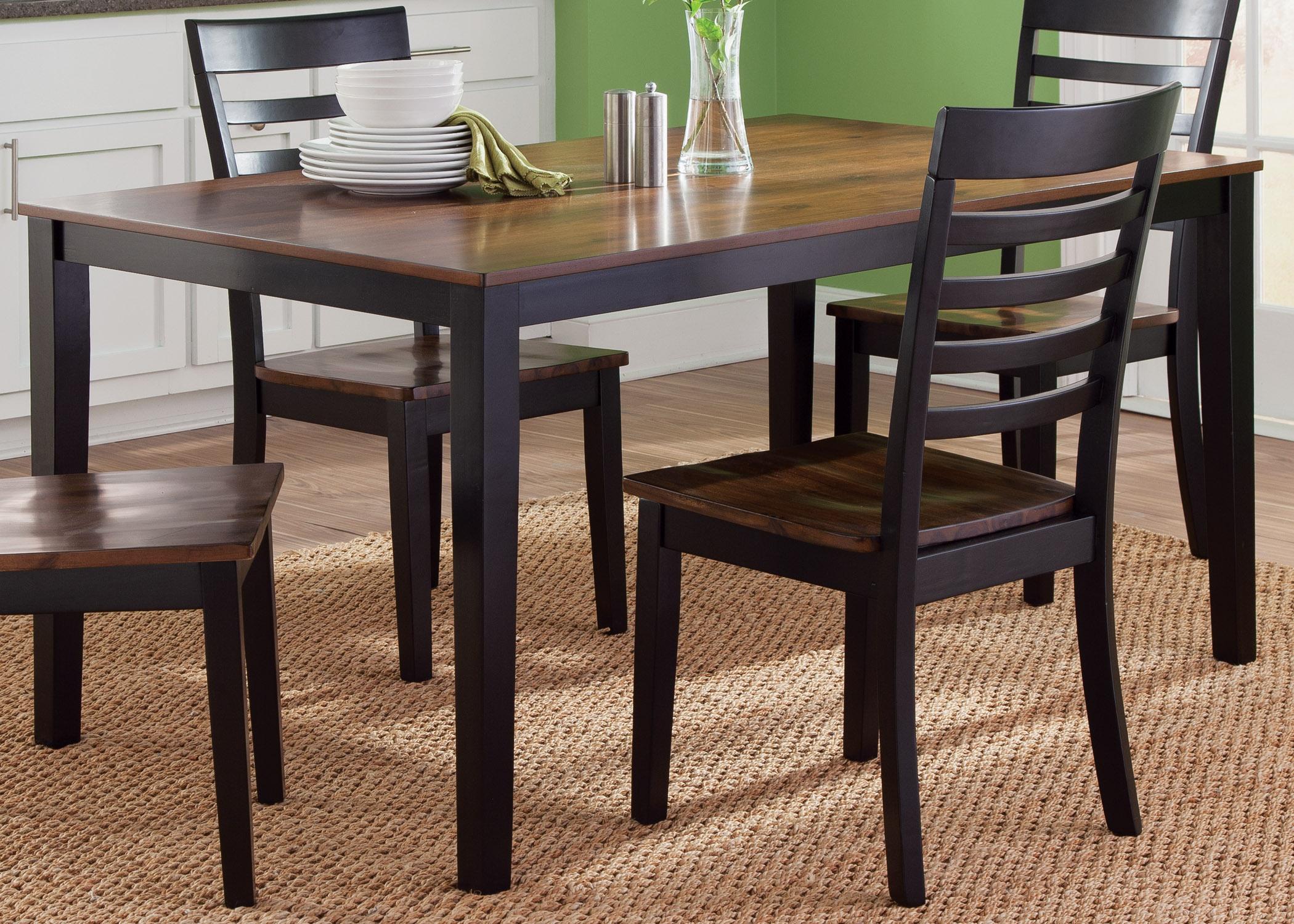 Liberty Furniture Cafe Dining Rectangular Leg Table - Item Number: 56-T3660
