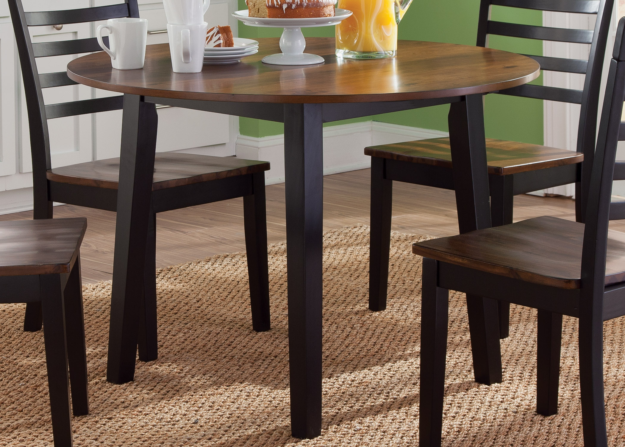 Liberty Furniture Cafe Dining Round Fix Top Table - Item Number: 56-T4242