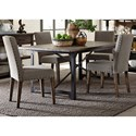 Liberty Furniture Caldwell Table and Upholstered Chair Set - Item Number: 11-T4072+4xC6501S