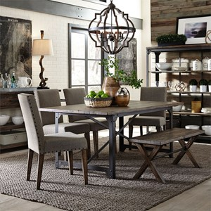 Liberty Furniture Caldwell 6 Piece Rectangular Table Set