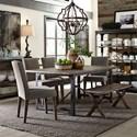 Liberty Furniture Caldwell 6 Piece Rectangular Table Set  - Item Number: 117-CD-6RTS