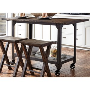 Liberty Furniture Caldwell Counter Height Kitchen Island