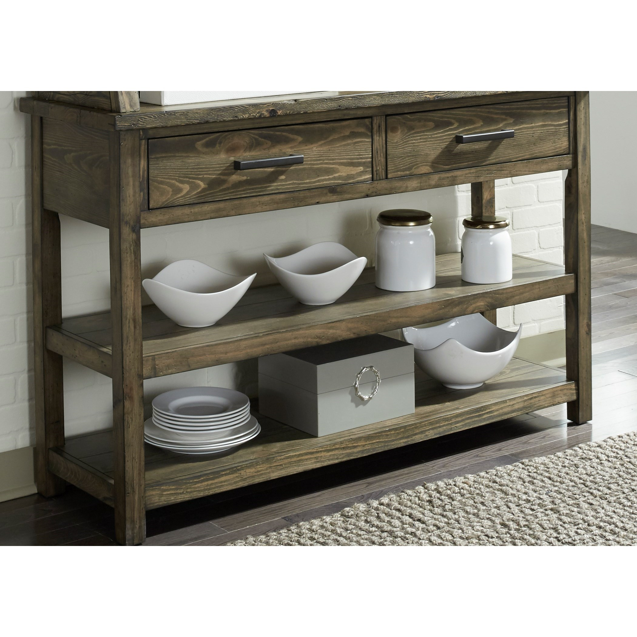 Superb Liberty Furniture Caldwell Dining Server   Item Number: 117 SR5636