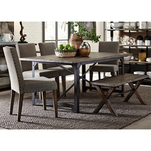 Liberty Furniture Caldwell Table and Chair Set with Bench