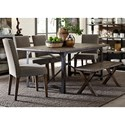 Liberty Furniture Caldwell Table and Chair Set with Bench - Item Number: 117-T4072+4xC6501S+C9000B