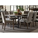 Liberty Furniture Caldwell Table and Upholstered Chair Set - Item Number: 117-T4072+6xC6501S