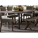Liberty Furniture Caldwell Trestle Dining Table - Item Number: 117-T4072