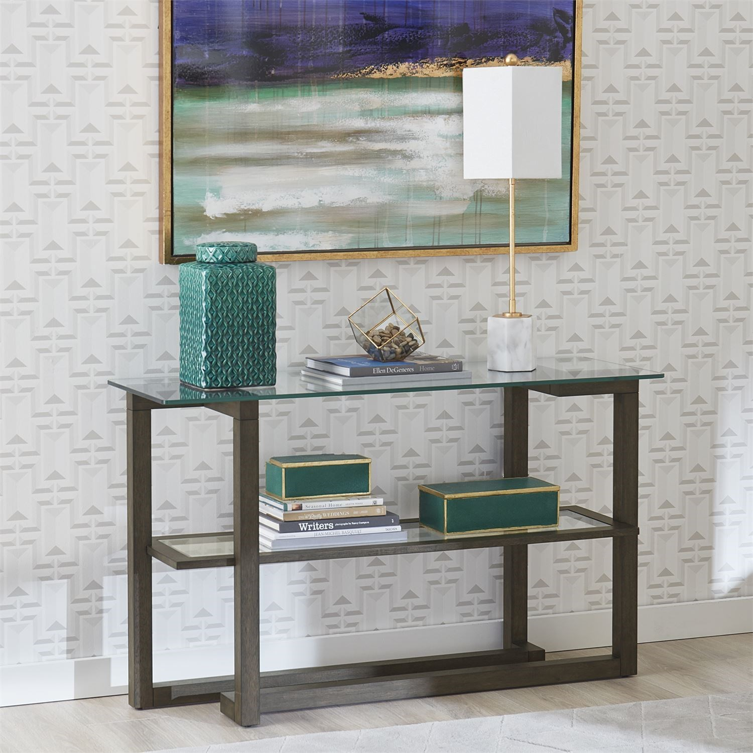 Calypso Sofa Table by Liberty Furniture at Zak's Home