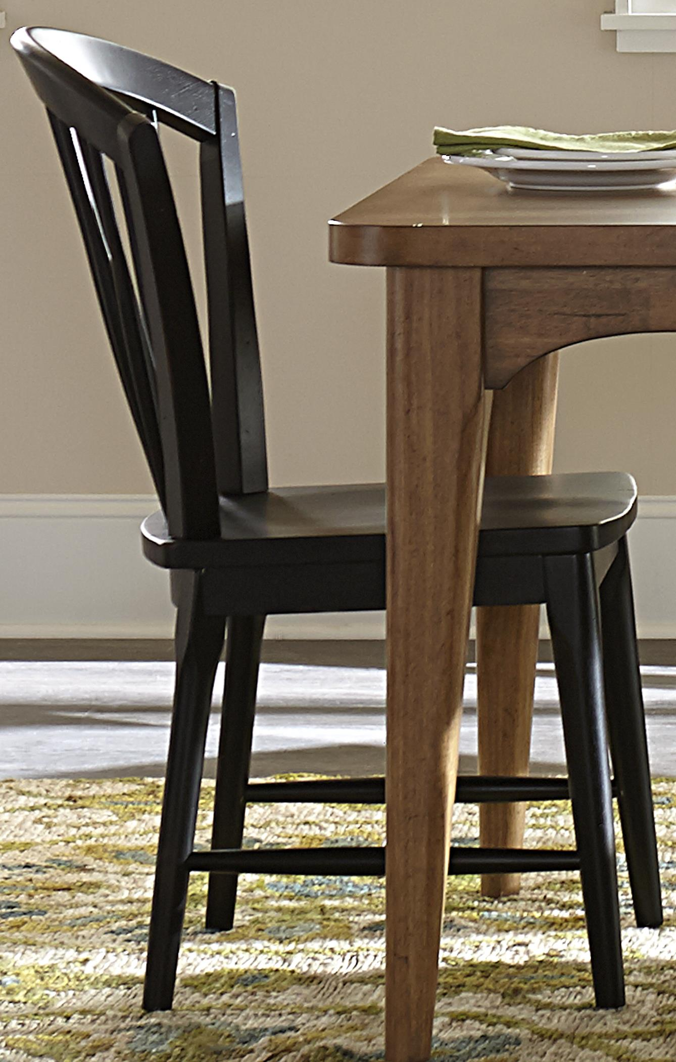 Liberty Furniture Candler Dining Windsor Chair with Tapered Legs - Item Number: 223-C1000S-B