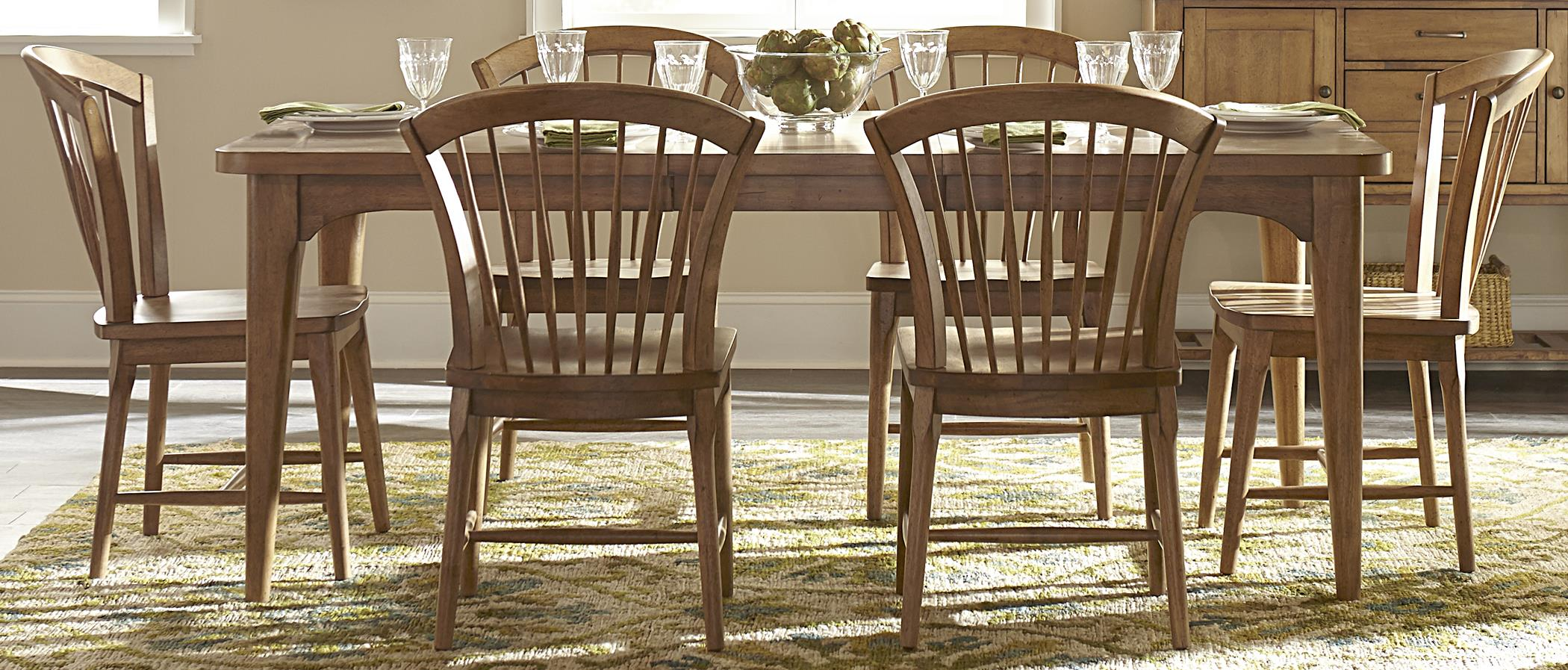 Liberty Furniture Candler Table and Chair Set - Item Number: 223-T4078+6x223-C1000S