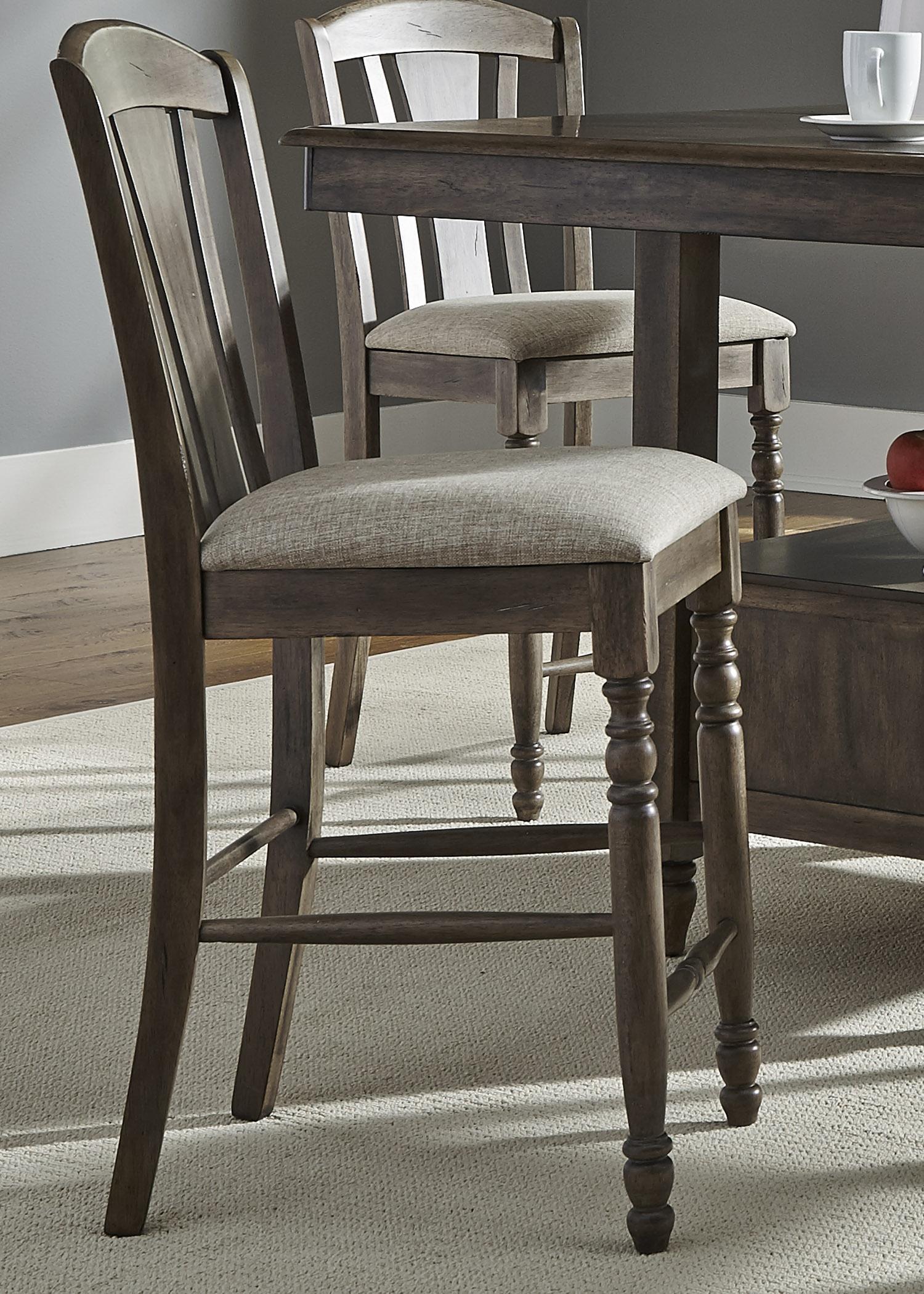 Liberty Furniture Candlewood RTA Slat Back Barstool - Item Number: 163-B150124