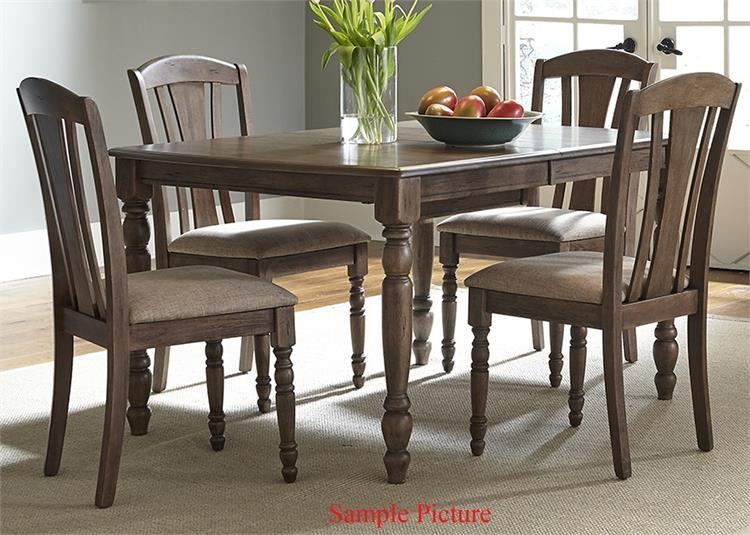 Liberty Furniture Candlewood 5 Piece Rectangular Table Set - Item Number: 163-CD-5RLS