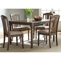 Vendor 5349 Candlewood 5 Piece Rectangular Table Set - Item Number: 163-CD-5RLS