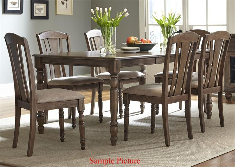 Liberty Furniture Candlewood 7 Piece Rectangular Table Set - Item Number: 163-CD-7RLS