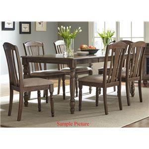 Vendor 5349 Candlewood 7 Piece Rectangular Table Set