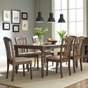 Liberty Furniture Candlewood 7 Piece Rectangular Table Set - Item Number: 163-CD-7RLS