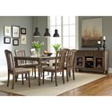 Liberty Furniture Candlewood Casual Bow Shaped Rectangular Leg Table