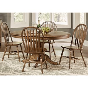 Vendor 5349 Carolina Crossing Pedestal Table and Chair Set