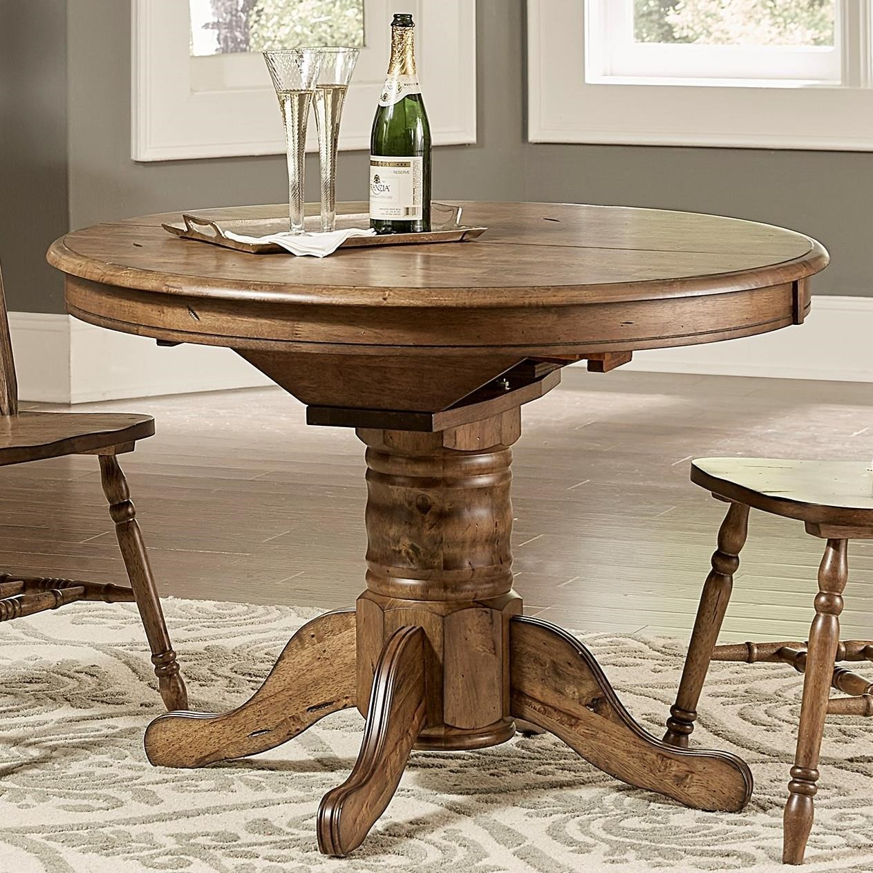 Dining Room Table Leaves: Winchenton Transitional Oval Pedestal Dining Table With