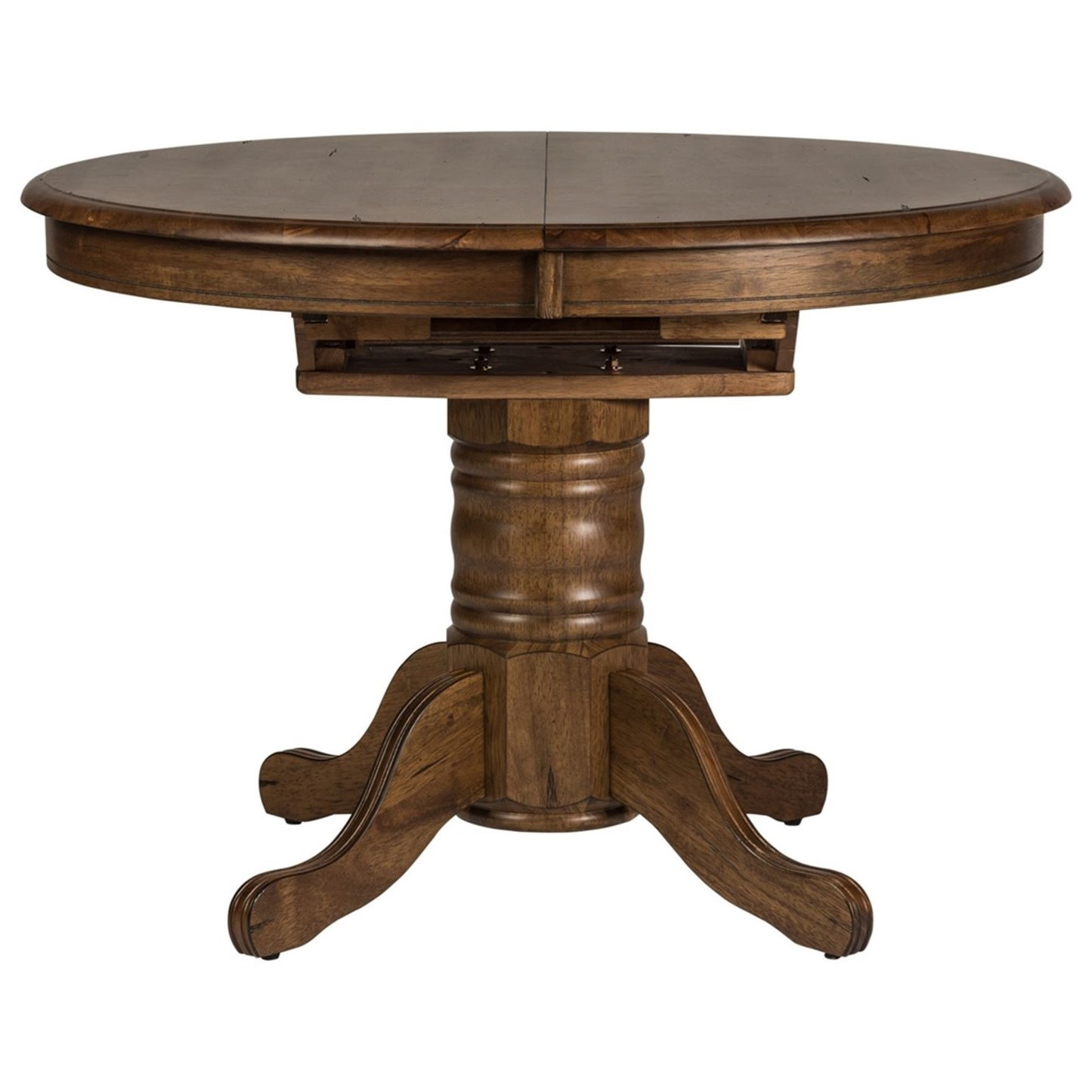 Carly Oval Pedestal Dining Table by Libby at Walker's Furniture