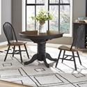 Liberty Furniture Carolina Crossing Pedestal Table and Chair Set - Item Number: 186B-CD-3ROS