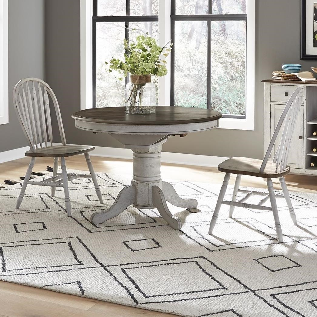 Carolina Crossing Pedestal Table and Chair Set by Liberty Furniture at Northeast Factory Direct